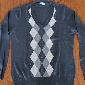 Charter Club argyle pull over sweater